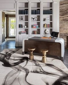 The delicate wisps of our Smoke rug by are achieved by smoothly blending 16 different shades of wool Compact Furniture, Furniture Showroom, Luxury Furniture, Furniture Design, Interior Design Awards, Top Interior Designers, Interior Design Studio, Commercial Interiors, Luxury Living