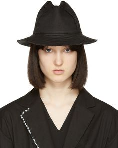 502e36c56cc Yohji Yamamoto Black Linen Fedora. Kevin Janes · Lady Fedora s