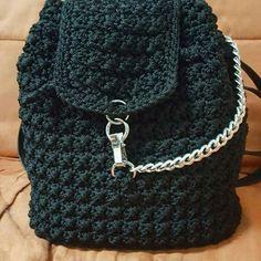 Free Crochet Bag, Crochet Purses, Knit Crochet, Crotchet Bags, Knitted Bags, Mochila Crochet, Crochet Backpack, Back Bag, Crochet Accessories