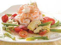 Pickled Shrimp Salad RECIPE ON: http://www.traditionalhome.com/food-entertaining/soups-and-salads-perfect-summer?page=6 www.MadamPaloozaEmporium.com www.facebook.com/MadamPalooza