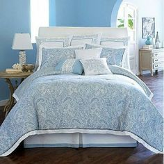 king size  blue paisley | 4Pc King Comforter Set