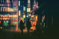 "These photos by Masashi Wakui capture the color and mood of late-night Tokyo. As the ""witching hour"" approaches around 11 or 12 pm, the Tokyo begins to transform. The city sorts itself between those who plan to stay in the city all night and those who must go home. The last train leaves at 12:30 pm,"
