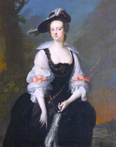 The Athenaeum - Elizabeth Hunt (Joseph van Aken - )  Elizabeth Hunt Joseph van Aken (1750-1755)