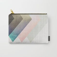 Geometric Layers Carry-All Pouch by cafelab | Society6
