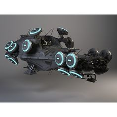 Matrix Hovership Movie Spaceship - 3D Model