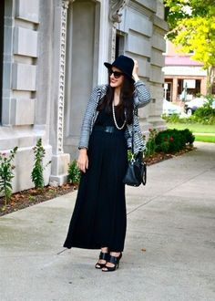 The Always in Style Black Maxi Dress