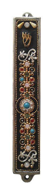 New Mezuzah Handmade Art Turquoise Swarovski by IrinaSmilansky, $58.99