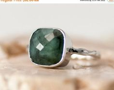 40 OFF Raw Emerald Ring May Birthstone Ring by delezhen on Etsy
