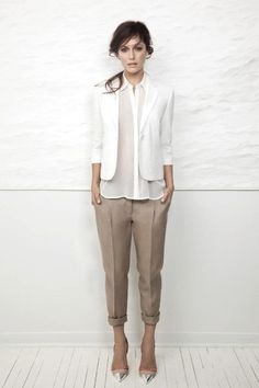 Pants. Amazing pants.-A play on proportions and neutrals.