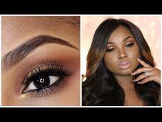 Full Face Make up tutorial - Bronze smoky eye -neutral/nude lips - YouTube