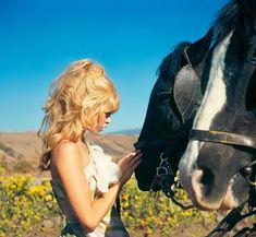 "Brigitte Bardot by John R. Hamilton on the set of ""Viva Maria"""