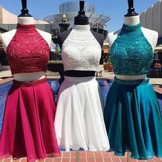 Homecoming Dresses,2 Piece Homecoming Dresses,white Sweet 16 Dress,Homecoming