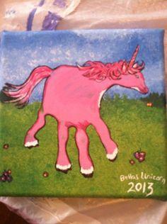 Unicorn hand painting