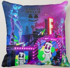Marshmello Head, Marshmello Alone, Throw Pillow Cases, Throw Pillows, Destiny Game, 36th Birthday, St Louis Rams, 100 Fun, Neck Pillow Travel