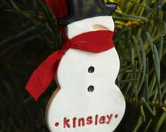 Snowman Ornament - Personalized