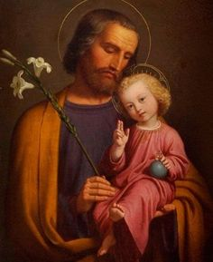 Joseph, father of Jesus. Litany Of St Joseph, Jesus Mary And Joseph, Jesus Is Lord, Saint Joseph, Religious Images, Religious Art, St Josephs Day, Jesus Face, Blessed Virgin Mary