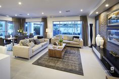 Living room area. The Lexington double storey display home design by #VenturaHomes #interiordesign
