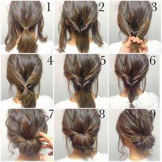 cabello con torcidos traseros