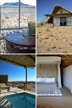 One of the most luxurious stays you can have in Namibia is at Little Kulala - surrounded bt beautiful desert and some of the world's highest sand dunes. Camps, Tent Camping, Us Travel, Places Ive Been, Africa, Things To Come, Patio, Architecture, Luxury