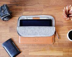 iPad Pro 12.9 or 9.7 Leather And Wool Felt Sleeve by HarberLondon