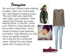 """Hayes Grier imagine"" by robandshannon ❤ liked on Polyvore featuring Frame Denim, ATM by Anthony Thomas Melillo, Vans and Aéropostale"