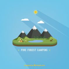 Forest camping Free Vector