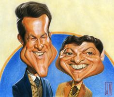 The Wild Wild West - James West/Robert Conrad  & Artemus Gordon/Ross Martin Caricature by JV