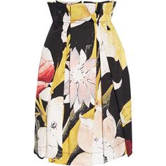 Vivienne Westwood Anglomania Vivienne Westwood Anglomania - Cristos... ($385) ❤ liked on Polyvore featuring skirts, bottoms, black, vivienne westwood anglomania, pleated skirt, floral print skirt, floral printed skirt and knee length pleated skirt