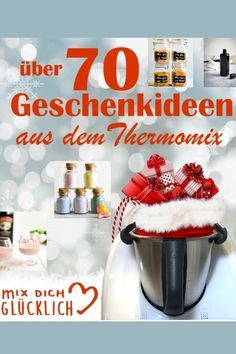 Über 70 fantastische Geschenkideen aus dem Thermomix Here you will find a large collection of gift ideas from the Thermomix, gifts from the kitchen, liqueur, [. Craft Gifts, Diy Gifts, Christmas Gifts, Amor Ideas, Chocolate Caliente, Pre Christmas, Homemade Crafts, Diy Food, Food And Drink