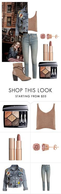 """""""So I'm Human After All, I'm Not Your Expectations"""" by janny-janny ❤ liked on Polyvore featuring Christian Dior, River Island, Charlotte Tilbury, Alice + Olivia, RE/DONE and Qupid"""