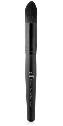 e.l.f. Studio Pointed Foundation Brush  http://www.eyeslipsface.com/studio/brushes/single-brushes/pointed_foundation_brush