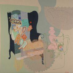 wing chair - maxine sutton via The Artful Desperado