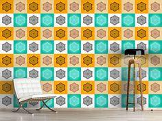 Design #Tapete Mehndi Blumen