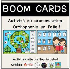 Boom Cards - La maternelle de Sophie Lead Page, Speech Language Therapy, Preschool, Madness
