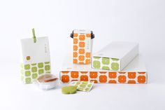 Brand Packaging, Packaging Design, Yogurt Packaging, Paper Bag Design, Typography Design, Lettering, Japanese Packaging, Food Branding, Pattern Illustration