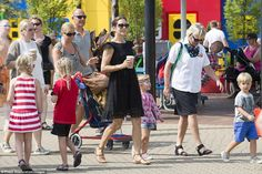 Crown Princess of Denmark Mary and the Danish Royal Family enjoyed a day out in the stunni...