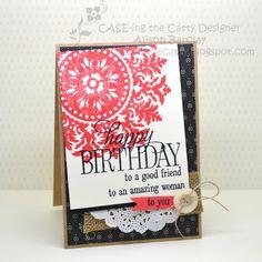 Gothdove Designs - Alison Barclay - Stampin' Up! Australia - Stampin' Up! Happy Birthday Everyone #stampinup #medallion #HappyBirthdayEveryone #birthday #card #gothdovedesigns #inspirecreateshare2015