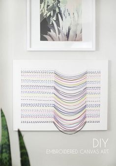 Make your own unique DIY embroidered canvas wall art. This DIY art piece is easy to make and adds lots of interest, color, and movement to your room. I originally shared this project at Crafts Unleashed. This post contains affiliate links for your convenience, see my full disclosure policy here.  I'm big on DIY art. …