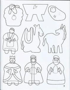 felt pattern - nativity (kerststal)