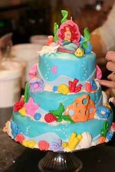The Little Mermaid Three Tier Fondant Cake Under the Sea Cake by Spaka13, via Flickr