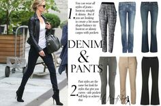 Denim & Pants for Inverted Triangle body shape