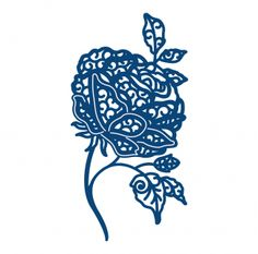 D229 Tattered Lace Dies - Florentine Large English Rose