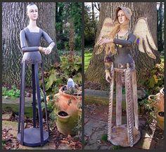 Wooden Santos Cage Dolls
