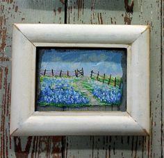 Texas Bluebonnet Bluebonnet Art Painting by SusanWymolaArt on Etsy, $31.00