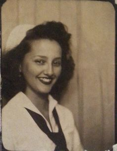 +~ Vintage Photo Booth Picture ~ Sailor girl