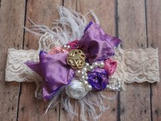 Shabby Chic Headband VIntage Inspired Lace by AldonasBoutique,