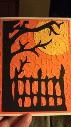 Halloween Card Idea- essential products for this project can be found on Crafting.co.uk - for all your crafting needs. More