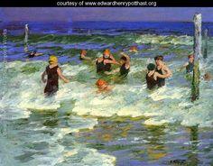 Bathing in the Surf - Edward Henry Potthast - www.edwardhenrypotthast.org