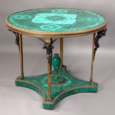 An Important Russian Malachite Center Table (1880 - 1900)