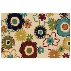 Oriental Weavers Lagos Floral Indoor Outdoor Rug